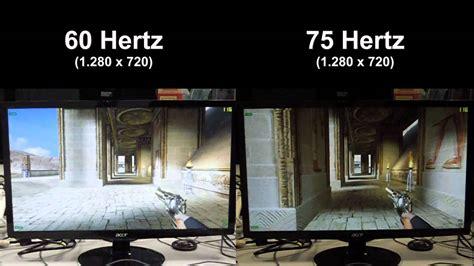 60 hz to s kann ein lcd 252 bertakten videovergleich 60 vs 75