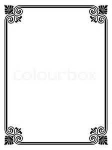 vector simple black calligraph ornamental decorative frame