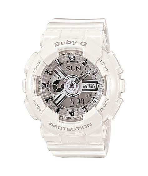 g shock ba110 7a3 white silver baby g digital