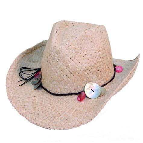 straw cowboy hat bead trim