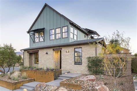 Modern Farmhouse Elevations by Modern Ranch Aesthetics Trades Extra Rooms For Outdoor