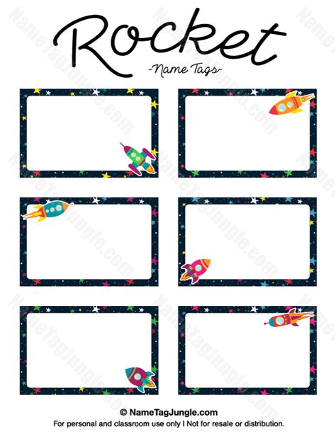 printable outer space name tags free printable rocket name tags the template can also be