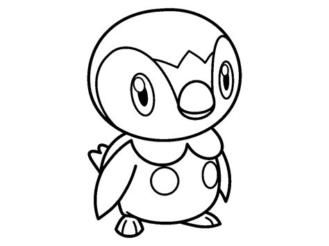 pokemon coloring pages of piplup piplup pokemon coloring pages coloring home