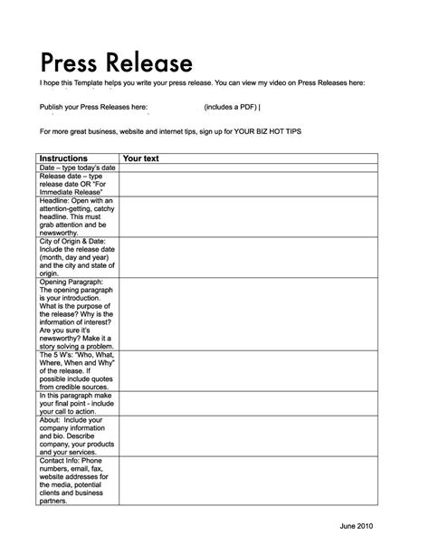 free press release templates 47 free press release format templates exles sles