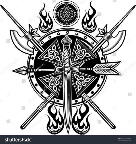 vikings tattoo stock vector illustration 254184829