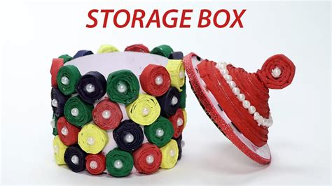 Best Out Of Waste Paper Craft - best out of waste easy newspaper storage box diy