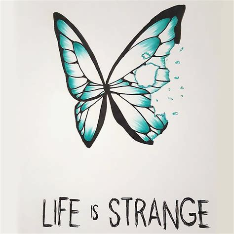 small butterfly life is strange tattoo design