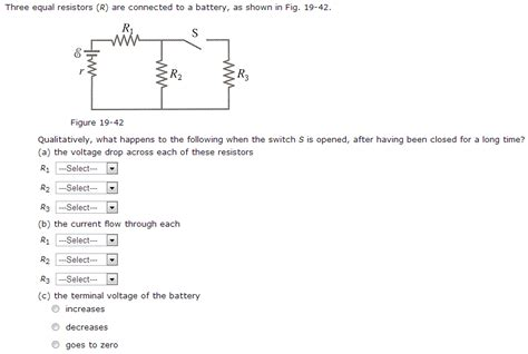 when unequal resistors are connected in series across an ideal battery consider three resistors with unequal resistances connected in parallel to a battery 28 images