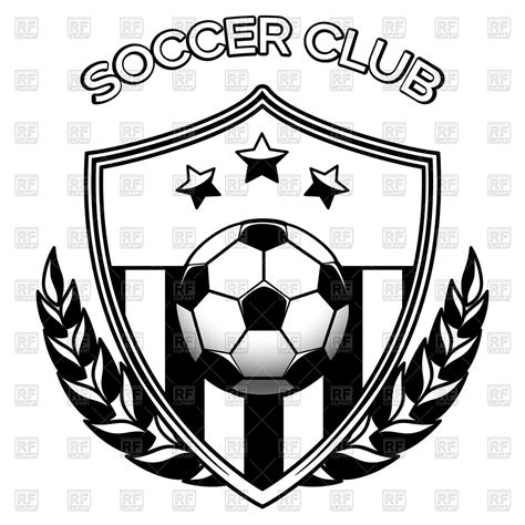 emblem black and white black and white footbal emblem with soccer soccer
