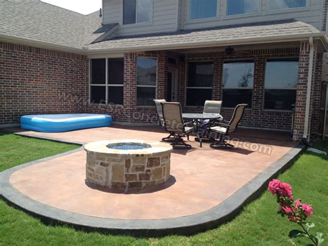 beautiful colors stained concrete patio design ideas