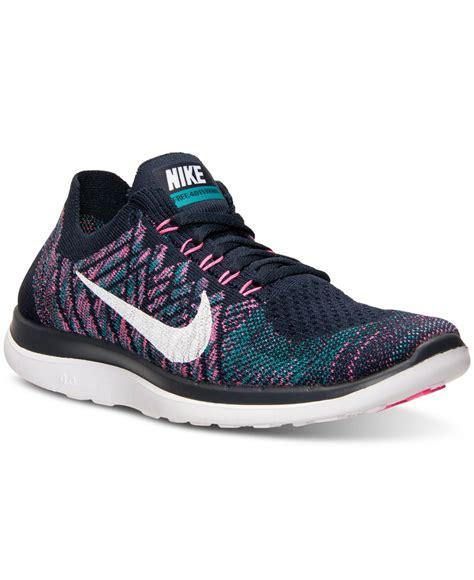 nike womans sneakers lyst nike s free flyknit 4 0 running sneakers from
