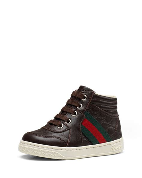 gucci sneakers for toddlers gucci leather high top sneaker with web detail toddler sizes