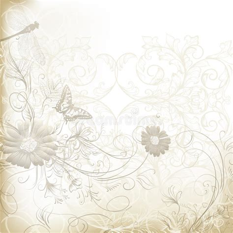 fashion elegant background with hand drawn flowers royalty elegant clear wedding background with floral ornament