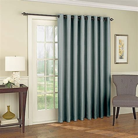 Patio Door Curtains Bed Bath Beyond Buy Solar Shield Wilder 84 Inch Grommet Room Darkening Patio Door Curtain Panel In Blue From Bed