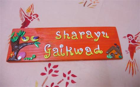 Handmade Name Plates - handmade wooden door name plate shopping