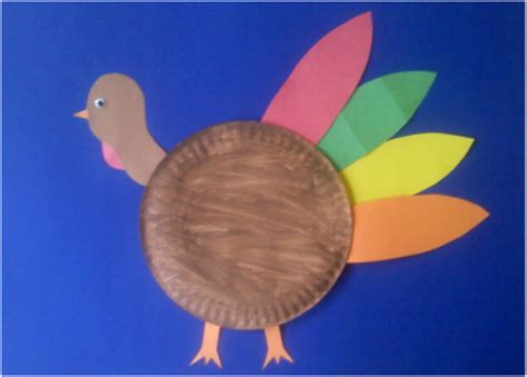 Turkey Paper Plate Craft - preschool education for april 2012