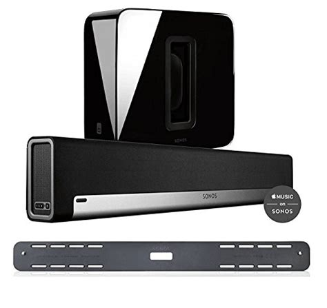 sonos 3 1 home theater system bundle playbar wall mount