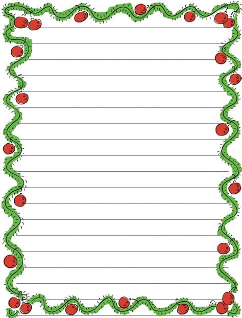 printable christmas lined paper printable notebook papers activity shelter