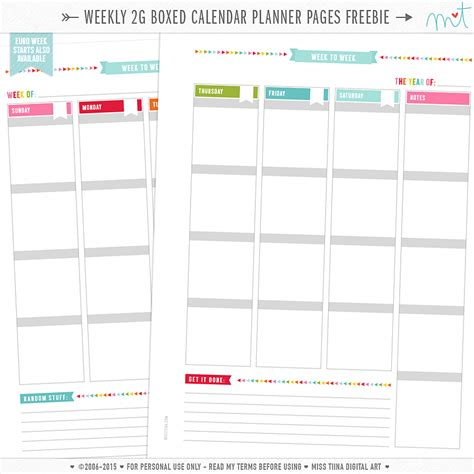 Printable Planner Calendar Pages | free printable 2016 planners calendars sparkles of