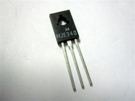 transistor mje340 transistor mje340 500ma 300v npn 20w to126 10mhz gpec srl