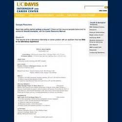 resume format resume exles uc davis