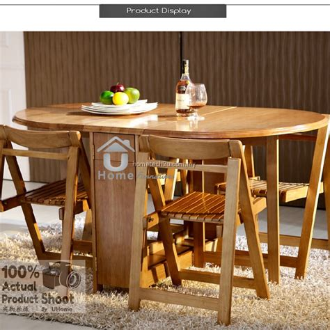 Butterfly Dining Set And 4 Chairs Butterfly Wooden Foldable Dining Table And 4 Folding Chairs Dining Set 1 4
