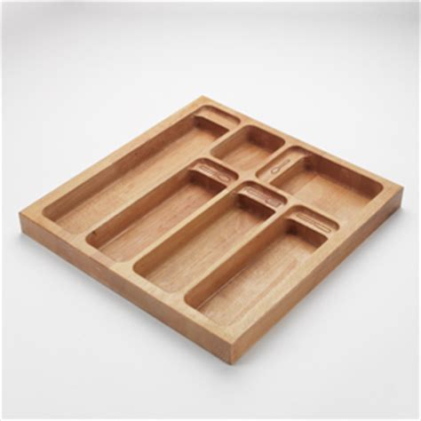 Wooden Drawer Inserts by Solid Wood Cutlery Tray Insert For Drawers Wood Kitchen