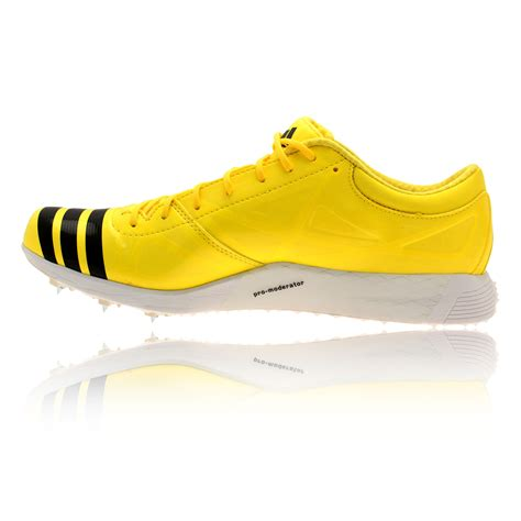 jump shoes adidas adizero jump spikes mens yellow trainers