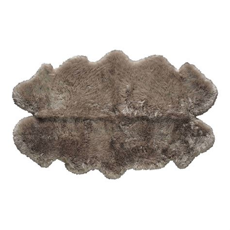 tappeto di pecora tappeto beige in pelle di pecora 110 x 180 cm maisons du