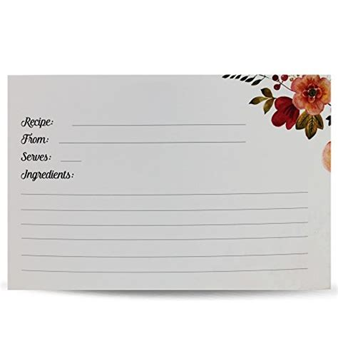 blank recipe card box vintage look recipe box set with 50 recipe cards 10