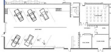 Shop Floor Plans by Lake Central High Room Concepts Vocational Auto Shop