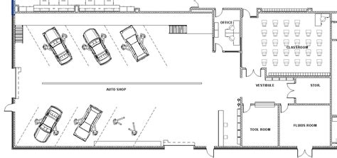 layout of vehicle workshop mechanic shop floor plans home deco plans