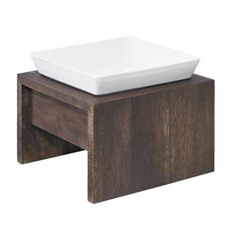 single elevated bowl artisan walnut rubberwood elevated bowl diner feeder bowls fetch