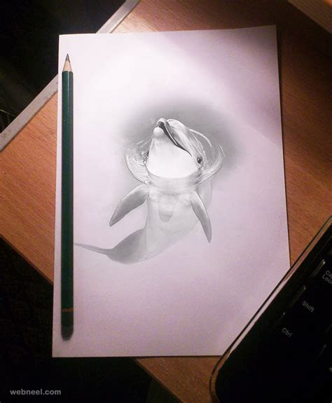 3d sketch 20 beautiful 3d pencil drawings and 3d works part 2