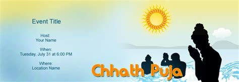 Free Chhath Puja invitation with India?s #1 online tool