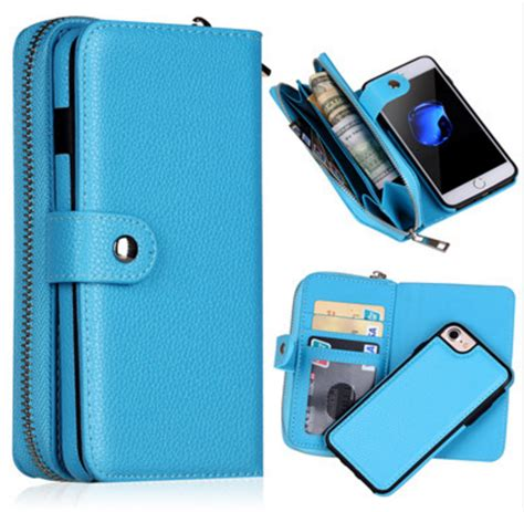 Samsung S7 Edge Magnet Wallet Leather Zipper Cover Dompet Armor samsung galaxy s8 plus 2 in 1 detachable magnetic zipper