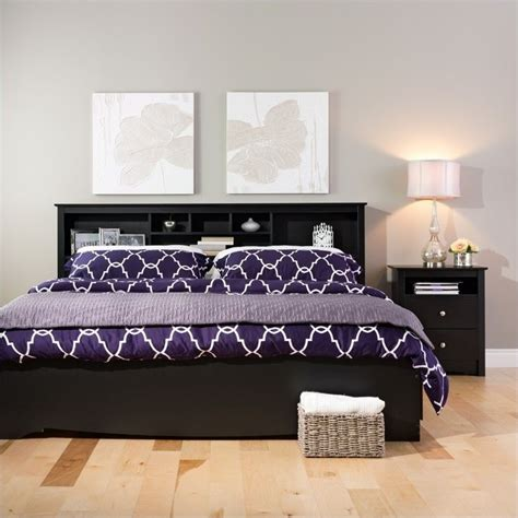 black headboards king king bookcase headboard in black bsh 8445