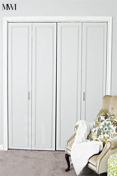 bifold or sliding closet doors diy bi fold closet door makeovers bright green door