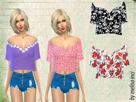 Crop Top Blouse Cc 90 best images about sims 4 custom content on