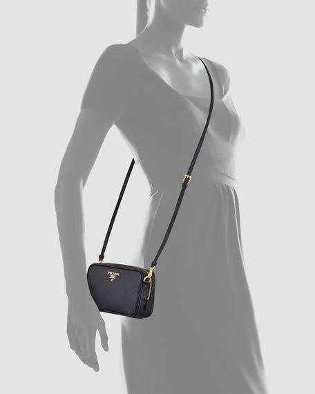 P Da Saffiano Mini Free Dompet prada saffiano mini zip crossbody bag black nero
