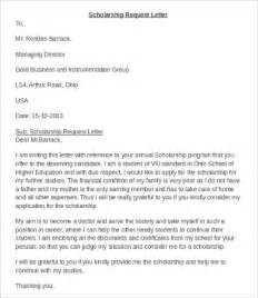 Scholarship Letter In Scholarship Application Letters 8 Sle Exle