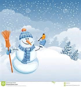 cute snowman stock vector image 45001547