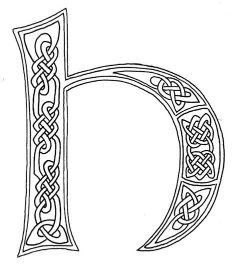 celtic letter coloring page celtic alphabet clipart 46