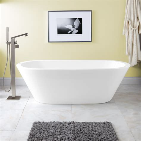 Bathrooms With Freestanding Tubs | collette acrylic freestanding tub bathroom