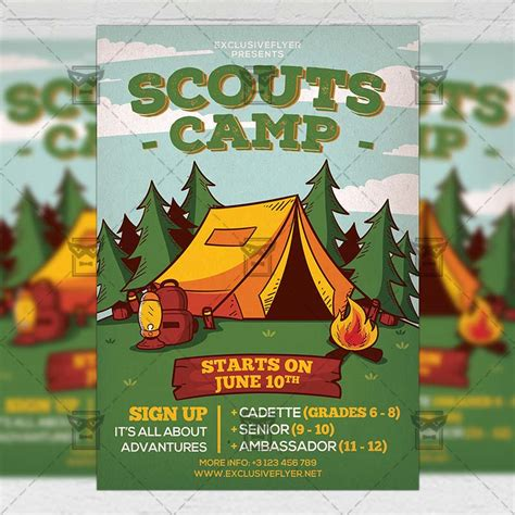 Scouts C Flyer Community A5 Template Exclsiveflyer Free And Premium Psd Templates Scout Flyer Template