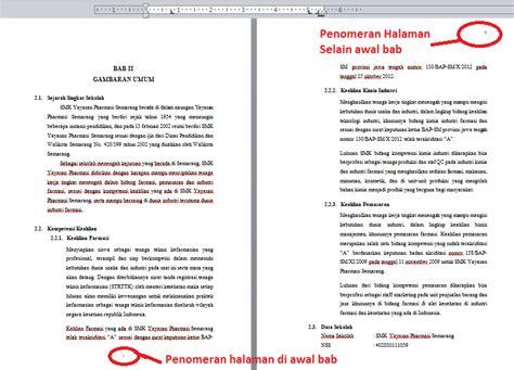 cara membuat jurnal skripsi di ms word cara membuat nomor halaman di setiap awal bab berbeda pada
