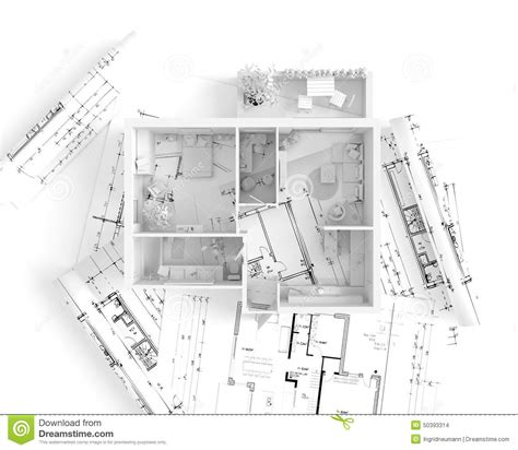 house plans to take advantage of view house plan top view interior design stock illustration