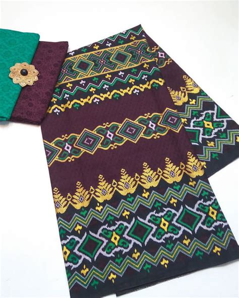 Kain Batik Prada Pekalongan Motif Songket Set Embos Warna Biru kain embos batik pekalongan by jesko batik