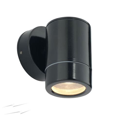 Gu10 Outdoor Lights Bk1wl Ip65 Gu10 Fixed Single Wall Spotlight In Matt Black Small Outdoor Light Wall L