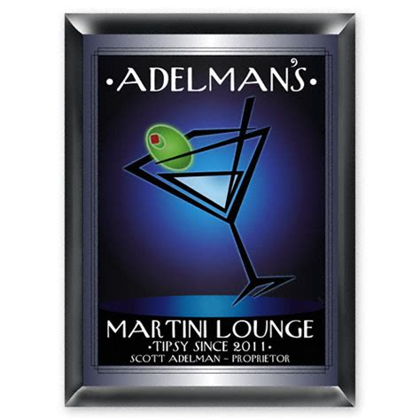 martini bar sign personalized quot after hours quot martini lounge sign